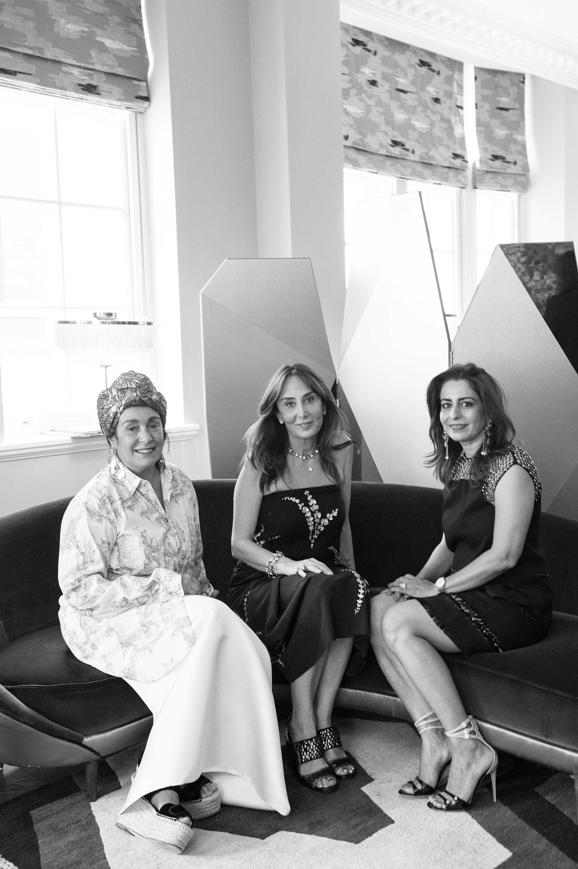 SQUAT London From left to right Nina Yashar, Mehves Ariburnu,Shalini Misra