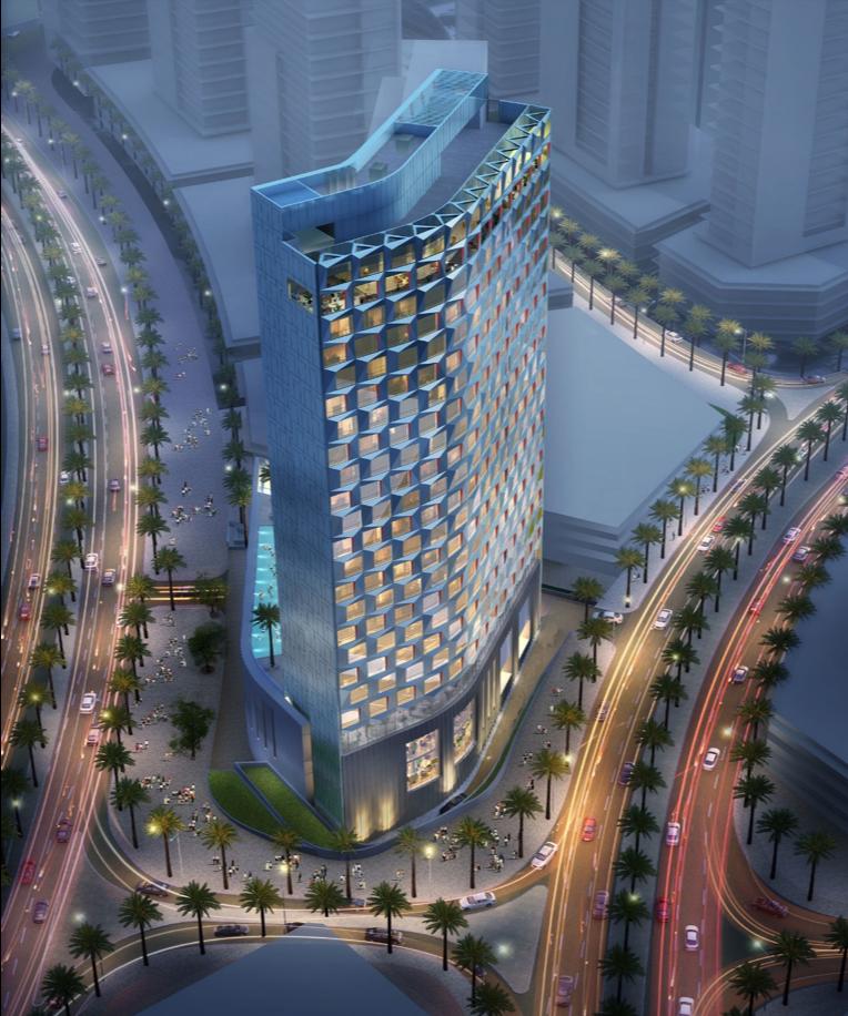 Hotel Indigo Dubai Downtown exterior