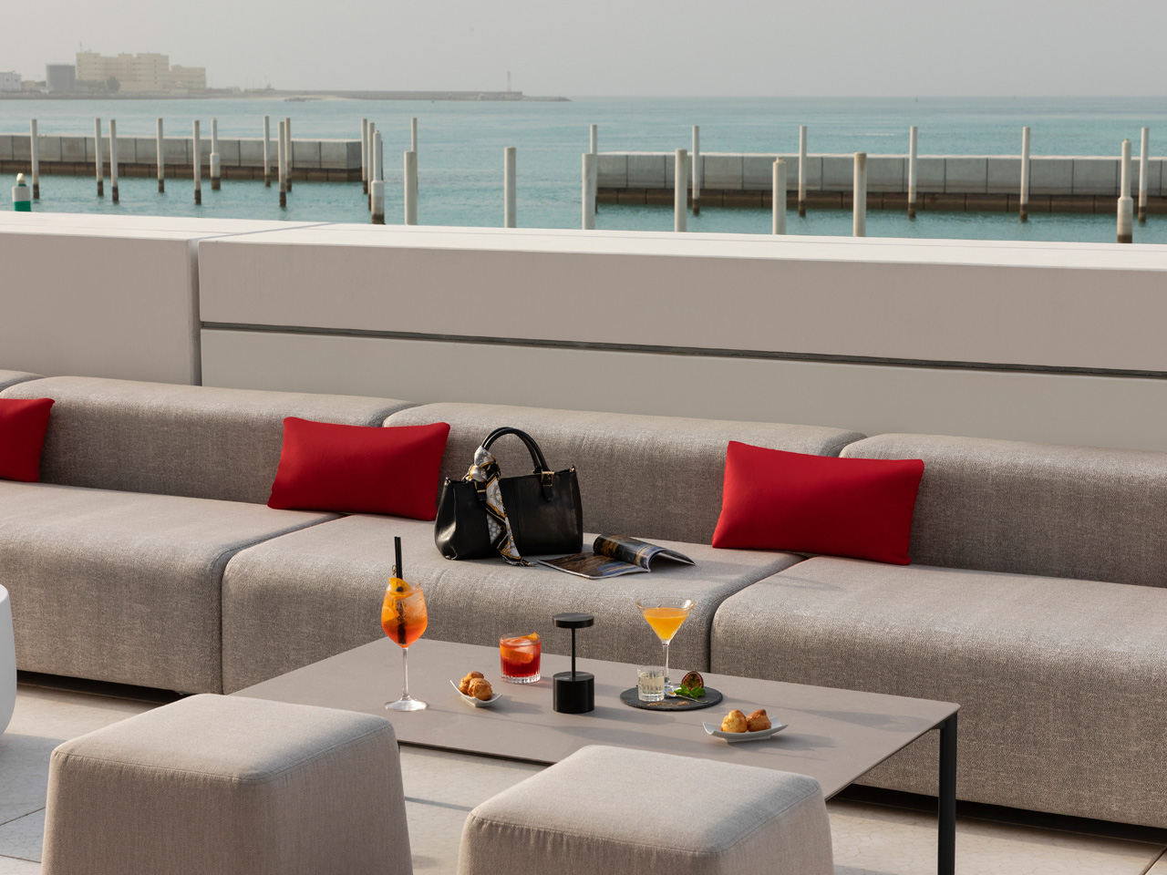 Fouquet Louvre Abu Dhabi outdoor seating