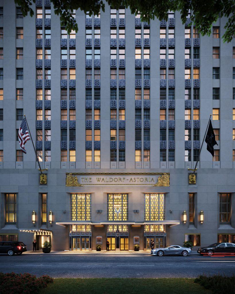 Waldorf Astoria New York entrance