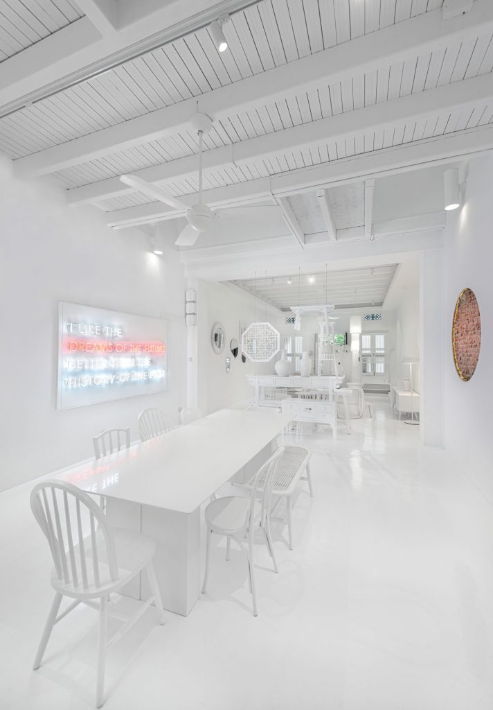 Ministry of Design all-white interiors for Singaporean shophouse