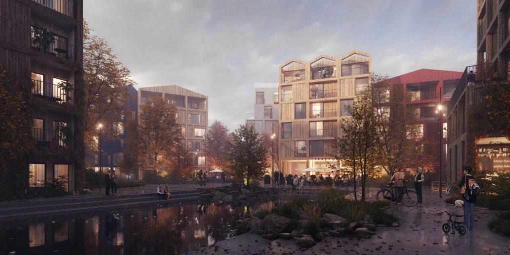 Henning Larsen all-timber neighbourhood_ sustainable projects