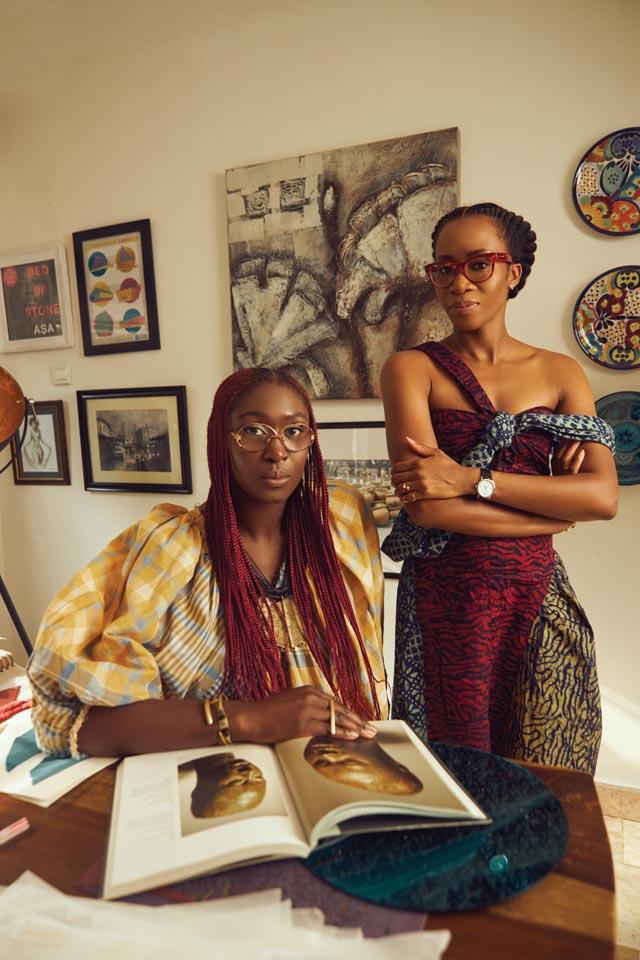 Chrissa Amuah and Tosin Oshinowo